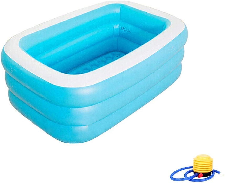 ZHPPRODUCT Aufblasbare Badewanne Für Erwachsene, Humanisiertes Intimes Design, Dicker Luftpolsterboden Mit Wrmeisolierung, Rohrabfluss, Doppeldüse, Blaugrün (Ausgabe   1.3 m Foot Pump)