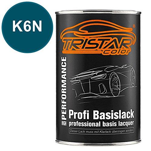 TRISTARcolor Autolack Dose spritzfertig für VW/Volkswagen K6N Oceanic Metallic Basislack 1,0 Liter 1000ml