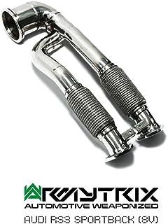 armytrix Escape para RS3(8V) Sportback 2.5L Turbo–decatted frontal tubo, mid-pipe, valvetronic Silenciador, Control remoto y doble mate puntas de escape