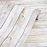 Wood Wallpaper 22.4 in X196 in Self-Adhesive Removable Wood Peel...