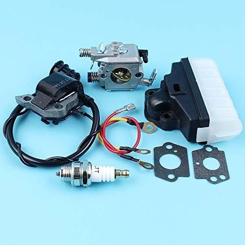 HaoYueDa Bobina de encendido Carburador Filtro de aire Bujía Kit Compatible con STIHL MS210 MS230 MS250 021 023 025 motosierra Walbro WT 286, Zama C1q-S11E