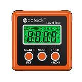 Neoteck - Inclinometro digitale LCD, misuratore dell'angolazione, impermeabile, per elicottero/per sega per cornici/per il test e la riparazione delle automobili e così via - Arancione