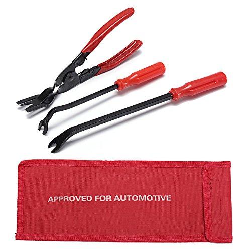 MJJEsports 3 Stks Removal Tool Deur Trim klinknagels Clips Pliers Bevestigingsverwijderaar Puller Tool Kit Set