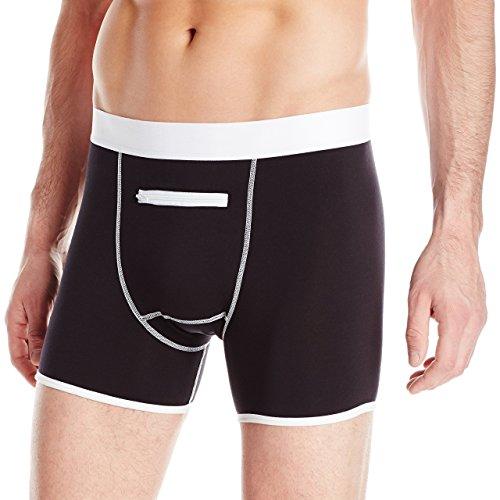 Speakeasy Briefs, Men's Stash Underwear with a Secret Front Pocket, Medium, Black