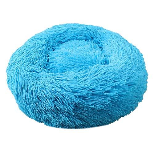 Cama de perro cómoda para mascotas con forma de donut redonda para perros y gatos, ultra suave, lavable, cojín para perros y gatos, sofá cálido de invierno (color: K, tamaño: XL 70 cm)