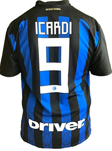 Maglia Inter Mauro Icardi 9 Replica Autorizzata 2018-2019 Bambino (Taglie-Anni 2 4 6 8 10 12) Adulto (S M L XL) (4 Anni)