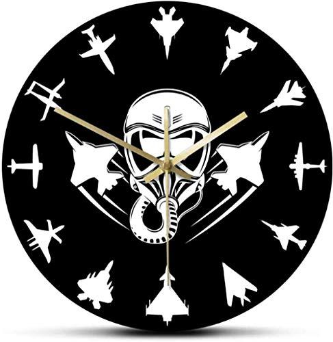 BINGTANGXUELI Co.,ltd Reloj De Pared Aviones A Reacción Militares Moderno Avión De Combate Silencioso Aviación Arte De La Pared Aviones Aéreos Aviador Piloto Regalo Etiqueta De La Pared Habitación
