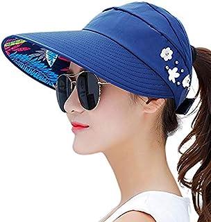 SHENTIANWEI Summer Women Raffia Husk Beach Sun Panama Hat with Extensive Brim