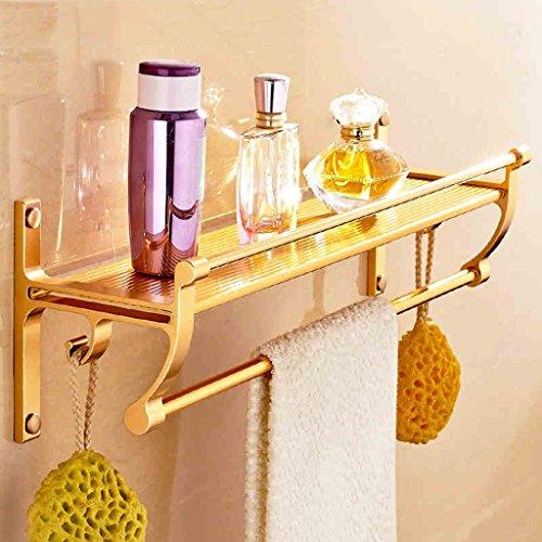 Racks de salle de bain Espace Aluminium Mur suspendu Or avec porte-serviettes/salle de bains (taille : 40cm)