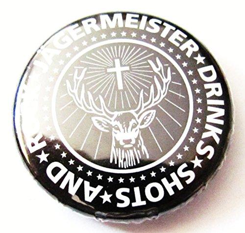 Jägermeister - Drink Shots and Rock - Button 25 mm