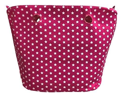 STARS - Innentasche Mit Reissverschluss Inlay passend für O BAG CLASSIC - Standart (Pink)