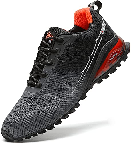 MARDICATO Herren Sportschuhe Cushion Schuhe Laufschuhe Straßenlaufschuhe Atmungsaktiv Walkingschuhe Outdoor Fitness Jogging Schuhe EU41-50 (47,Grau)