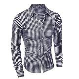 N\P Camisa informal y cómoda a cuadros para hombres en primavera y otoño