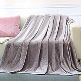 YJJSL Manta de Franela Gris Manta Gruesa Manta de sofá Manta de Aire Acondicionado Manta Puede cubrirse (Size : 180cmX200cm)