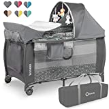 Lionelo LO-SVEN PLUS GREY SCANDI Sven 2in1 Kinder Reisebett...