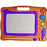 Magnetic Drawing Board Tablet - Seashell Ocean Friends Drawing, Writing, Erasable Magic Drawing Board! (Orange)