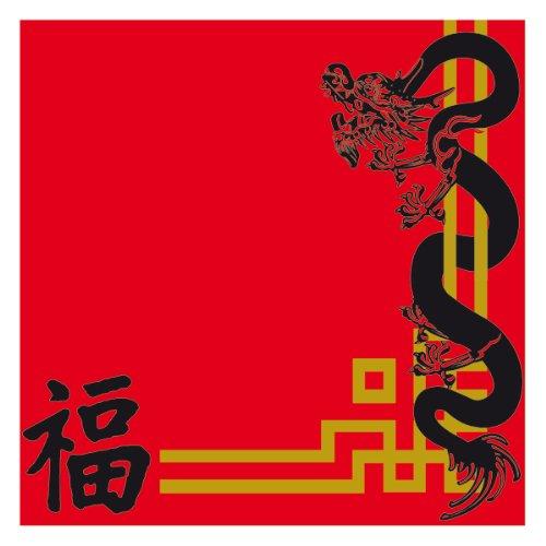 Garcia de Pou China Design Double Point Servietten 18gsm in Box, 40x 40cm, Papier, Rot, 30x 30x 30cm, 50er Pack