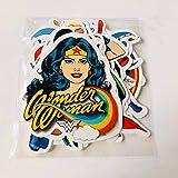 20 DC Wonder Woman Justice League Adesivi Valigia Valigia Skateboard Casco Auto Adesivo per auto