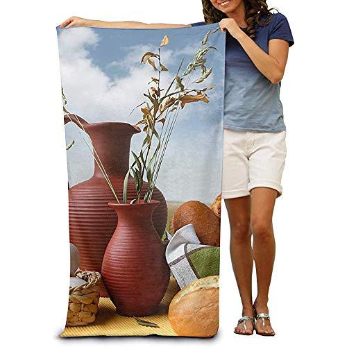 utong Toallas de Playa 100% algodón 80x130cm Manta de Playa de Huevos de Pan de Secado rápido Toalla de Playa