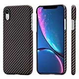 """PITAKA Magnetic Slim Case Compatible with iPhone XR 6.1"""", MagEZ Case Aramid Fiber [Real Body Ar…"""