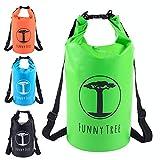 Funny Tree® Drybag. (20L grün) Wasserdichter (IPx6), verbesserter DryBag, schwimmfähig. Inklusive...