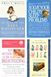 4 Book Set; Secrets of the Baby Whisperer; Solve Your Child's Sleep Problems; the American Academy of Pediatrics New Mother's Guide to Breastfeeding; on Becoming Baby Wise.