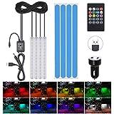 Striscia LED Auto, URAQT LED Auto Interni 48 LED RGB, Illuminazione Auto Strisce 4 Modalit...
