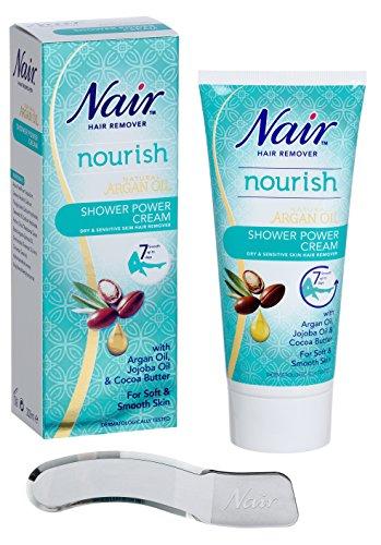 Nair - Shower Power Cream - For Dry & Sensitive Skin - with Argan Oil,...