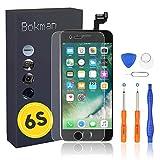 Bokman LCD Pantalla para iPhone 6s Reemplazo de Pantalla LCD con Botón de Inicio, Cámara Frontal, Sensor Flex, Altavoz Auricular y Herramientas de Reparación(Negro)