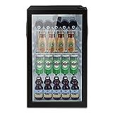 ADT Beverage Cooler and Fridge With Glass Reversible Door 100 Can Beverage Refrigerator (3.2Cu.Ft)