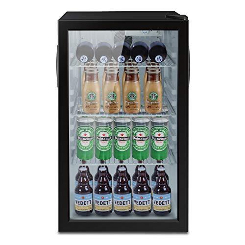 ADT Beverage Cooler and Fridge With Glass Reversible Door 100 Can Beverage Refrigerator 32CuFt