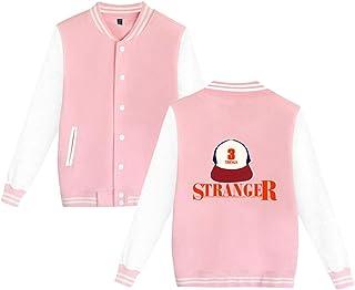 Chaqueta Stranger Things Mujer, Sudadera Stranger Things Abrigo Stranger Things Unisex Deporte Béisbol Suéter Hombres Niña...