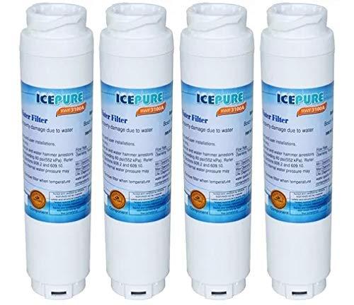 IcePure RFC3100A - Filtro dell'acqua per frigoriferi Bosch Ultraclarity 644845, confezione da 4