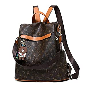 Mochila de las mujeres antirrobo impermeable mochila casual monedero de cuero de la PU bolsa de hombro de la escuela… | DeHippies.com