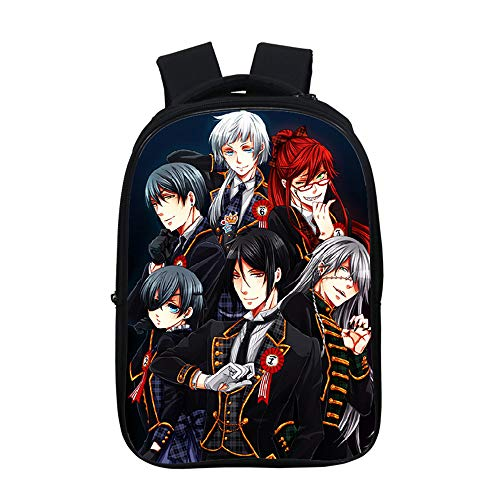 Lzjzb Black Butler 3D Anime Schoolbag with Backpack and Pencil Case for Boys Girls Kids Backpack Student 1