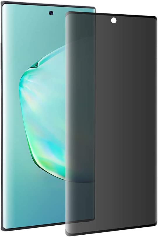 Galaxy Note 10 Plus privacy anti-fog tempered glass screen protector [upgrade version] [no bubble] 9H hardness scratch-resistant, suitable for Samsung Galaxy Note 10 Plus/Unable to Unlock Fingerprint