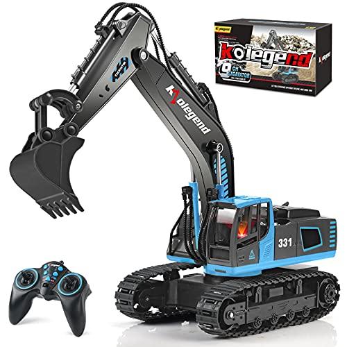kolegend Remote Control Excavator Toy Truck, 1/18 Scale RC Toys...