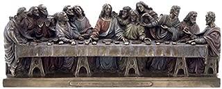 US 14.25 Inch The Last Supper Cold Cast Bronze Statue, Leonardo Da Vinci