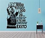 Vinilo decoratívo Michael Jordan,Baloncesto,NBA,Deporte,Marca KIVIKE,habitación de los niños,decoración del hogar,Etiqueta engomada,Pegatina de Pared,Color Negro,Medida 57X110 CM.