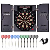 WIN.MAX Electronic Soft Tip Dartboard Set with Cabinet, 12 Darts LED...