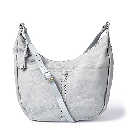NOOSA ORIGINAL Handtasche WABI SABI BRAIDED LARGE SHOULDERBAG light grey