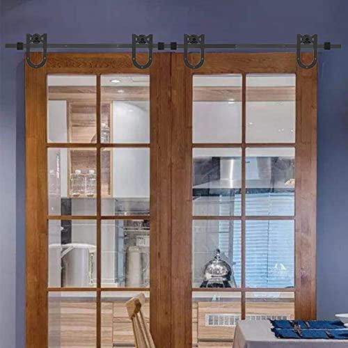 Herrajes para rieles deslizantes Fácil de operar Herrajes para puertas corredizas de granero de 3 metros, para lavandería, para baños