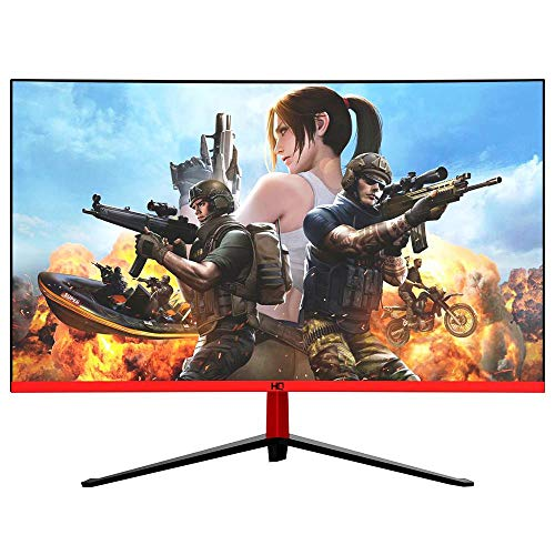 """Monitor Gamer LED 27"""" Curvo 1ms 165hz Display Port HDMI USB 27HQ-LED RGB R3000 Bordas ultra finas HQ271M165HC Preto"""
