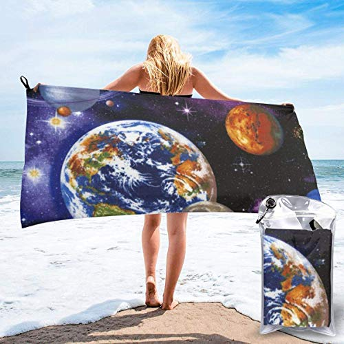 Toalla de baño Universe Space Microfiber Sand Free Toalla de Playa Manta-Quick Dry Toalla Fina súper Absorbente y Ligera
