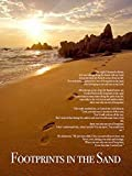 777 Tri-Seven Entertainment FISP1 Footprints in The Sand Color Wall Poster Print Poem God Inspirational, 18' x 24'