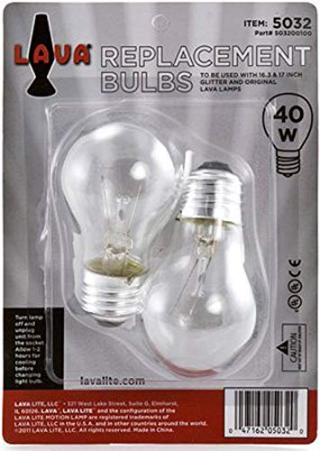 """Lava Lamp Replacement Bulb (40 Watt Replacement Bulb is for 16.3"""" or 17"""")"""