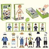 Duyifan Magnetic Puzzle Dress Up Doll, Creativo Juego de simulación, Juego de Disfraces, imanes de Nevera, Regalo Educativo para niños de 3, 4 años, niños, niños, niñas (Boy)