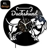 xcvbxcvb Reloj de Pared de Vinilo LED para Perro, Regalo para Mascotas para mamá, Abuelo, papá o Amigos, decoración de Cocina para Sala de Estar, Cachorro Animal