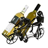 Roomando Weinflaschenhalter Fahrrad Tandem Metall Geschenk Weinregal Deko Geldgeschenk Sportler Hobby