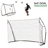 QuickPlay 2in1 Rebounder and Soccer Goal - Includes Soccer Net and Carry Bag [Single Goal]